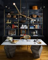 modern office space home design photos. Love The Dark Wall Study Room Desk Furniture, Home Office, Cabinets, Lighting, Work At Modern Office Space Design Photos