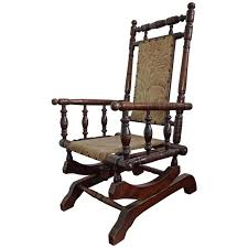 rare antique rocking chair for children american rocker for child or toy bear for
