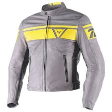 dainese blackjack motorcycle leather jacket clothing jackets grey yellow dainese merchandising 100