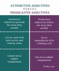 Difference Between Attributive and Predicative Adjectives | Learn ...