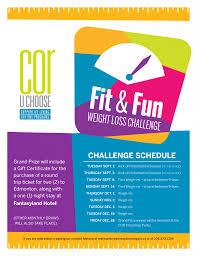 Fit Fun Weight Loss Challenge Creative Options Regina Cor