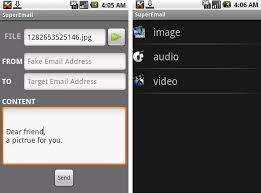 Superemail Android App Send Mails With Fake Source Name And