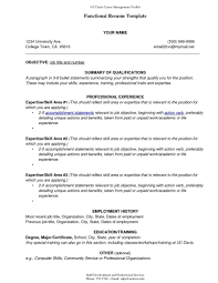 Template Sample Of A Functional Resume Template Format Templates