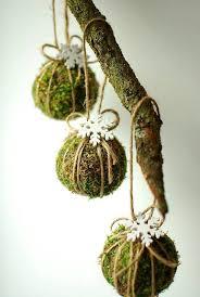 Natürliche Christbaumschmuck 6er Set Grün Weihnachtsschmuck