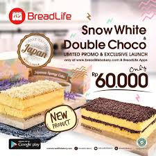 Snow White Double Choco 1 Japanese Sponge Cake Snow White Cuma 60k