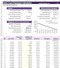 Amortization Schedule With Extra Principal Loan Amortization Calculator Excel Template