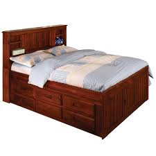 full size bed with drawers. Contemporary Drawers Merlot Bookcase 6drawer Fullsize Bed Intended Full Size With Drawers N