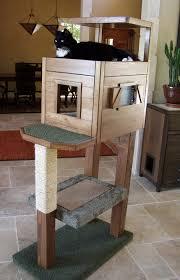 tall diy cat condo