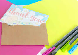 Baby Shower Thank You Cards Free Printable Daydream Into Reality
