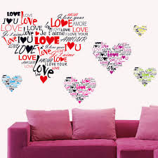 iron wall decor u love: stylish fashion i love you love heart wall decor vintage wall sticker home decor romantic wall