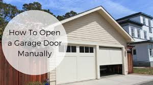 how to manually open a garage doorHow To Open a Garage Door Manually  All Pro Door Repair