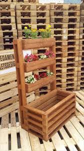 multi tiered accent pallet flower planter 25 inspiring diy pallet planter ideas