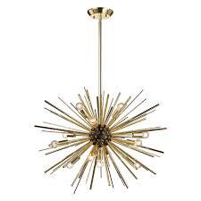 cool starburst pendant light starburst chandelier by trend