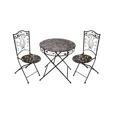 outdoor metal table set. Metal Garden Tables And Chairs Bistro Set Folding Furniture Outdoor Table E