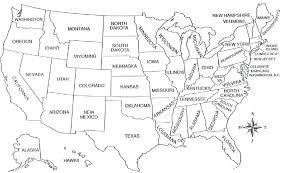 Printable Blank Map Of Maps United States Regions Worksheet