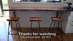Diy Breakfast Bar Rimu Breakfast Bar And Stools Project Jan 2014 Youtube