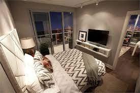 bedroom tv wall condo interior