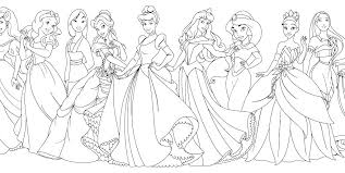 Belle Colouring Pages Printable Disney Princesses Coloring Princess
