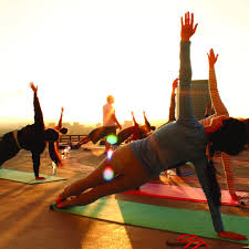 cherish the morning view of the city of dallas as well as the human body through yoga this weekend courtesy of maroon weekly