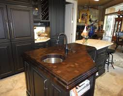 wenge end grain wood countertop with sink by cafecountertops 74807