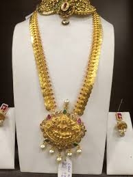 Gold Necklace Designs In 80 Grams With Price Long Necklace 70 Gms Kas Bridal Jewelry Gold Jewellery