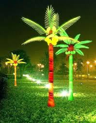 lighted palm tree decor palm tree outdoor light up decorative trees with lights remarkable led coconut