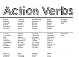 List Of Active Verbs Action Verbs X Center Top Action Verbs For Resume