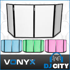 vonyx dj screen foldable dj facade 4 lycra panels