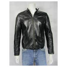tough rider new men black soft napa short biker leather jacket hood bike rock