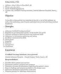 18 Free Cna Nursing Resume Samples Sample Resumes