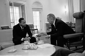 lbj oval office. president lyndon b. johnson meets with martin luther king jr. in the white house, 1963 lbj oval office
