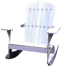 catchy patio rocking chairs with pelican hill wood adirondack patio rocking chair white beach
