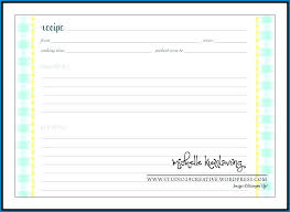 Free Printable Recipe Template For Word 4403