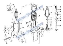evinrude starter motor (delco remy, no 1113521) parts for 1963 75hp delco remy starter generator wiring diagram Delco Remy Starter Wiring Diagram #45