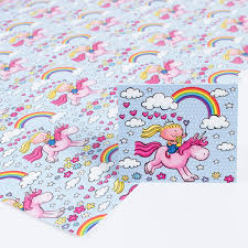 Unicorn Wrapping Paper Gift Tag Set Pack Of 2 Only 99p
