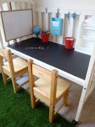 diy idea transition an outgrown crib into a desk a little learning for two