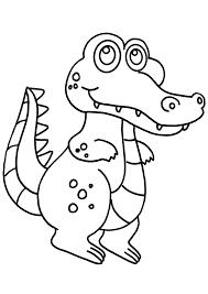 Dessin De Coloriage Crocodile Imprimer Cp08813