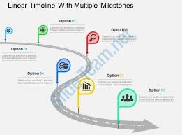 Timeline Milestones Linear Timeline With Multiple Milestones Flat Powerpoint Design