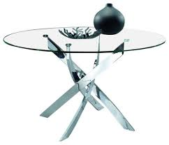 modrest pyrite modern round glass dining table contemporary regarding modern round glass dining table