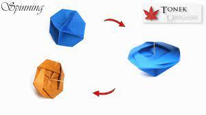 Hướng dẫn gấp con quay - DIY Origami Spinning Toy Tutorial - YouTube