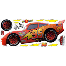 disney cars racing series large wall sticker set