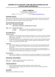 Part Time Job Cv Template Cv Examples Student Part Time Job Barca Fontanacountryinn Com
