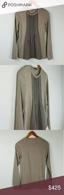 Peserico Tricot Brown Cotton Chiffon Sweater Nwot Light