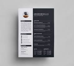 Black White Resume Template 000290 Template Catalog