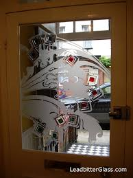 contemporary etched glass