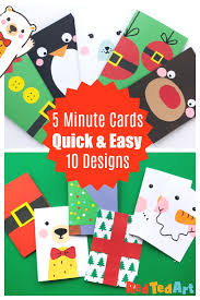 10 Super Simple Christmas Card Designs To Make In Less Than