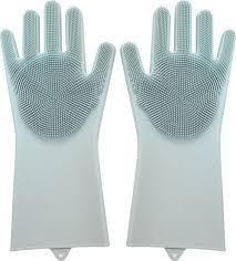 Многофункциональные <b>силиконовые перчатки</b> для мытья посуды ...