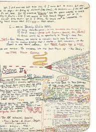 notes and diagrams show how famous authors including j k rowling literary great the detailed thought process of gay talese is revealed her as he sketches