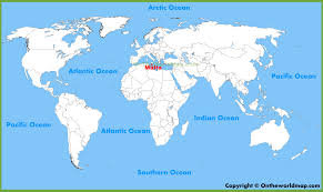 malta location on the world map