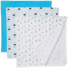 Rosie Pope Size Chart Rosie Pope Baby Blankets 3 Pack Sharks Surf Boards Multi One